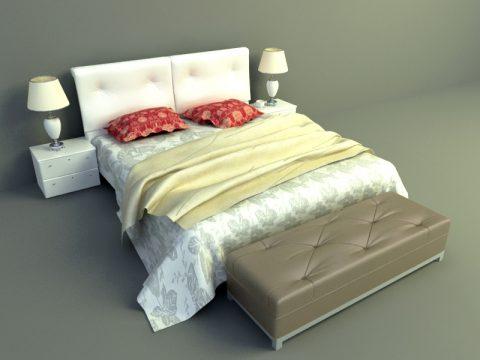 elegant bed design 3d model