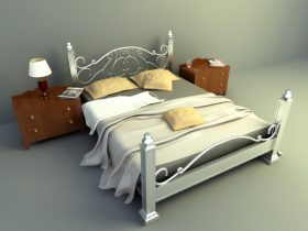 elegant design bed 3d model