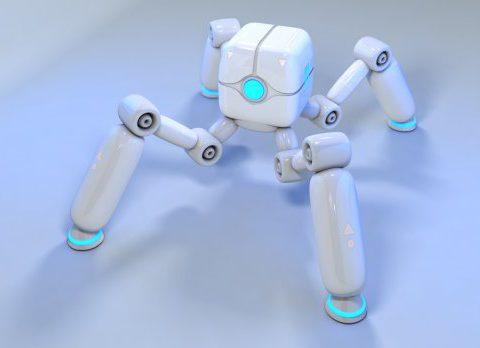 Four legs robot design