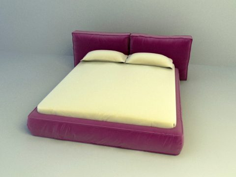 fully cushion Bed 3d model
