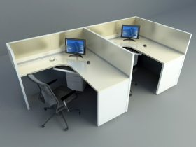 general office furnishing 3d model