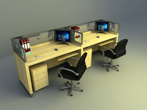 general office set 3d max model