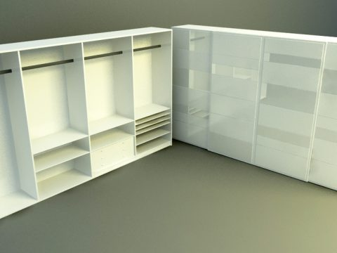 high wardrobe 3d model