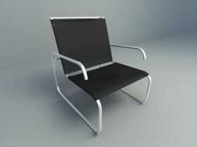 leather office chair 3d model