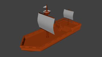 Lowpoly ship 3D model