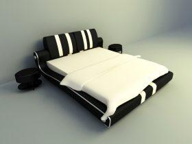 modern bed design 3d model