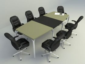 office meeting furniture set 3d model