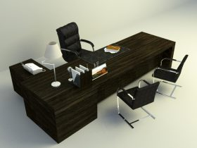 office working table long office working table furniture free 3d models download downloadfree3dcom