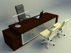 office working table 3d model