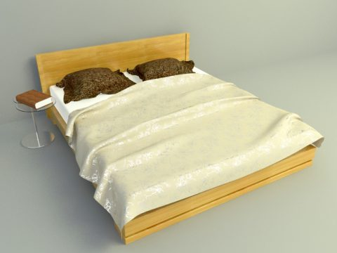simple bed design 3ds max model