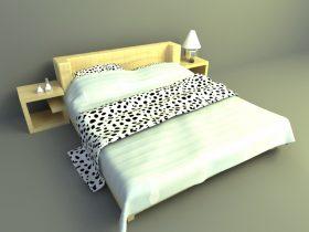 simple bed design 3d model