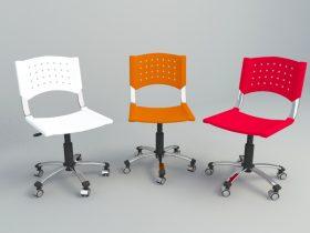 simple office chair 3d c4d model