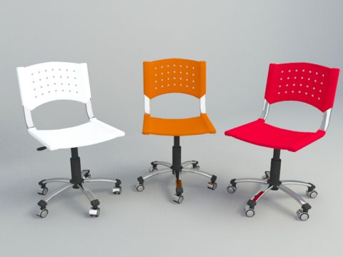 simple office chair 3d c4d model
