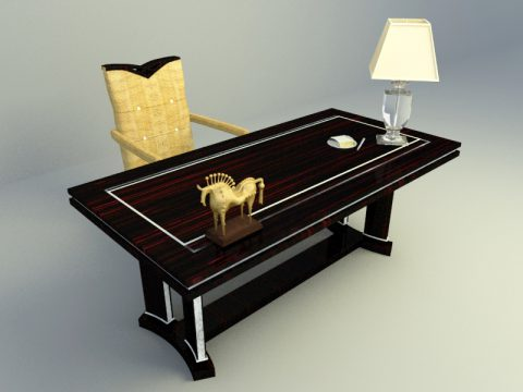 single working table 3d max model