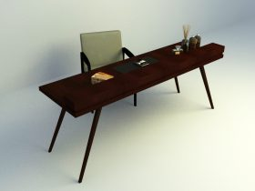 study simple table set 3d model