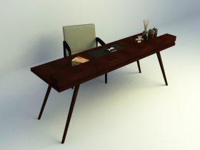 study simple table set 3d model