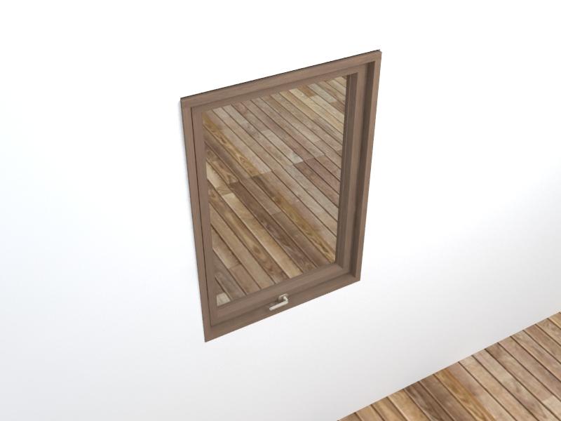 window 3d obj model