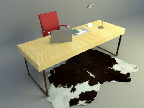 working table 3ds max model