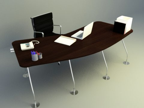 working table c4d model