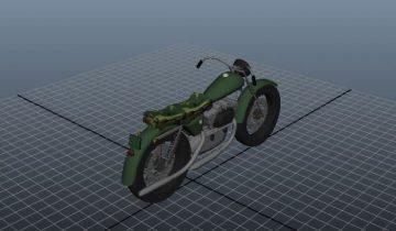 Army Bike 3D model