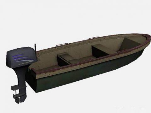 3D boat model