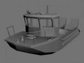 Boat unfinished 3D model