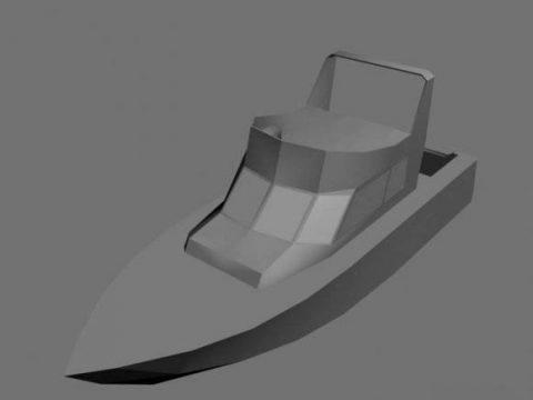 Boat unfinished 3D model