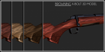 Browning X-Bolt 3D model