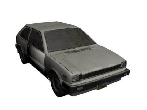 Car 82 Hatchback + wrecked 3D model