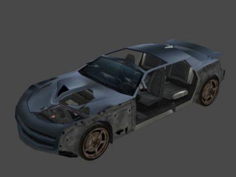 Car crashed 3D model