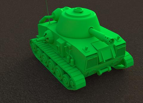 Cartoon-ish Tank 3D model