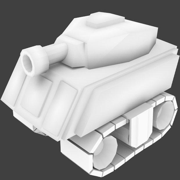 Cartoon tank | Free 3D models