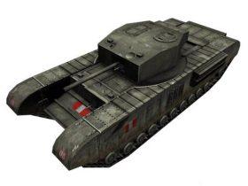 Churchill tank Mk IV A22 3D model