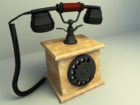 Classical Phone 3d model