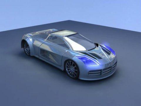 Concept car Panthius 3D model