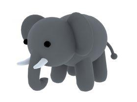 Doll Elephant 3d toy model