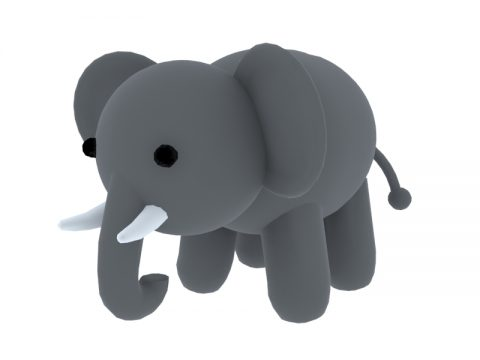 Doll Elephant 3d toy model