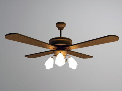 Fan Lamp 3d model