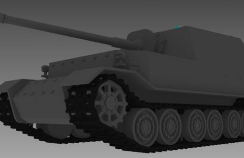 Ferdinand tank 3D model
