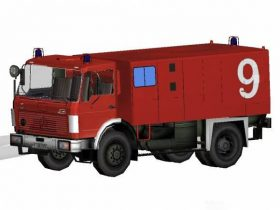 Firetruck German presence Benz FlKfz2400 3D model