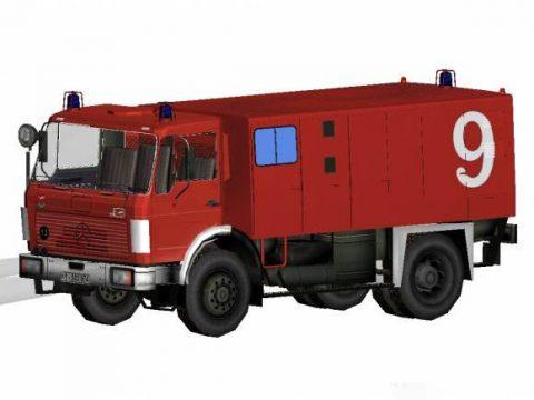 Firetruck German presence Benz FlKfz2400 3D model