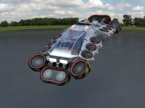 Flying car NR3 3D model