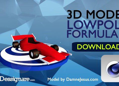 Formula 1 Lowpoly Racing car 3D model