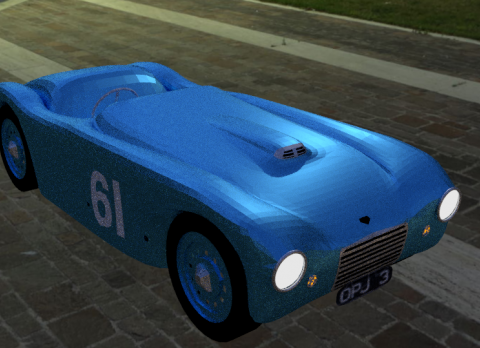 Frazer Nash Mille Miglia 1950 3D model