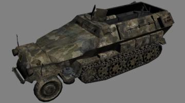 German Armored Truck 3D model