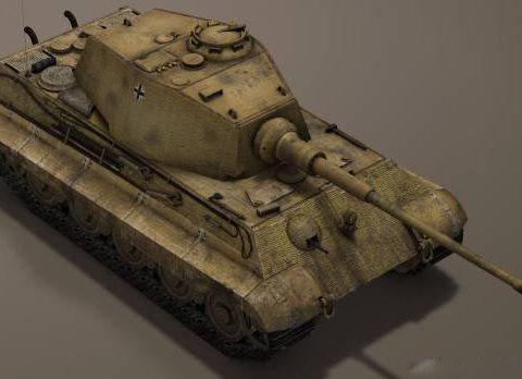 German Panzer WW2 AUSF-B KingTiger 3D model