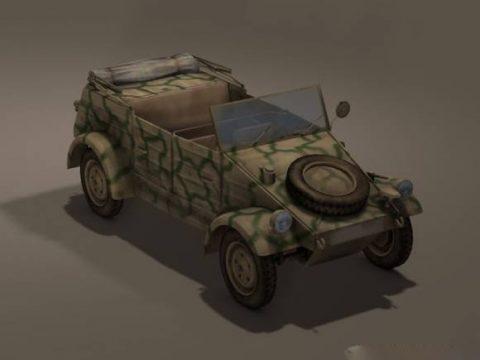 German WW 2 Car Kubelwagen 3D model