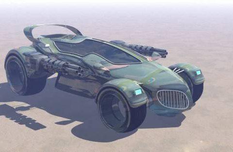 Hexacar military 3D model