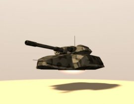 Hovering Tank V2 3D model