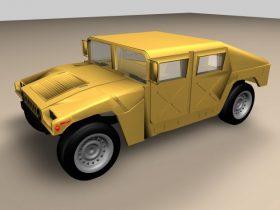 Humvee vehicle 3D model